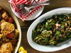 Sauteed Mustard Greens with Pancetta Recipe : Food Network - FoodNetwork.com