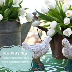 Pin Party Tip:  Remember to refresh your browser often to see the latest pin activity!
