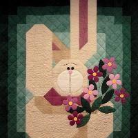 My Bunny Quilt Spring Quilt Pattern - via @Craftsy