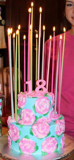 Lilly Pulitzer Birthday Cake