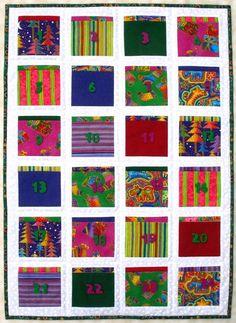 Advent Calendar Quilt Laurel Burch Fabrics by PennyFabricArt