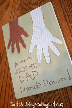 Easy Father's Day card and craft gift ideas for kids to make.
