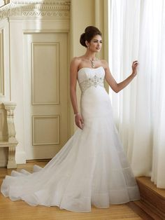 simple affordable wedding gown