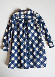 Vintage Cotton Checkered Top