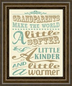 Grandparents Print   Gift for Grandparents  by iNKYSQUIDSTUDIO, $12.00