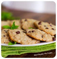 Mint-Chocolate Chip Oat Cookies #vegan #vegetarian #food #recipe