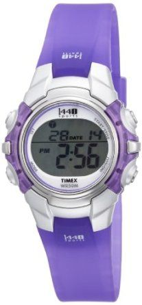 Timex Women's T5K4599J 1440 Sports Digital Silver Case Translucent Purple Strap Watch-- 20% DISCOUNT & FREE SUPER SAVER SHIPPING for a limited time!--->  http://amzn.to/16aB5uQ