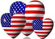 american flag hearts