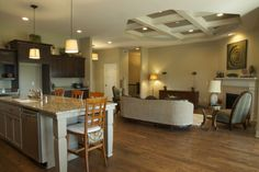 Open Kitchen Family Area Room   The Sanibel   Trustway Homes