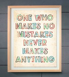 Great perspective on mistakes