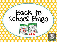 """FREE LESSON - """"Free: Back to School Bingo"""" - Go to The Best of Teacher Entrepreneurs for this and hundreds of free lessons.  5th - 9th Grade  #FreeLesson   #TeachersPayTeachers  http://www.thebestofteacherentrepreneurs.net/2014/07/free-misc-lesson-free-back-to-school.html"""