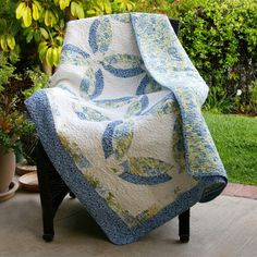 blue and yellow quilts