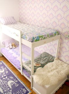 Little girls room with shades of purple and pink - citrusandorange  My girls would LOVE this.
