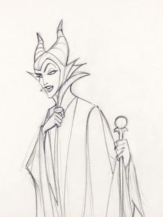 Sleeping Beauty Maleficent Production Drawing