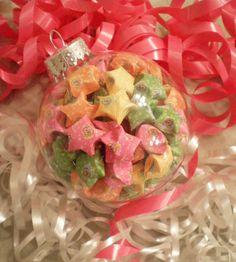 Sailor Moon origami star filled Christmas ornament