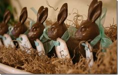 Faux chocolate rabbits... love