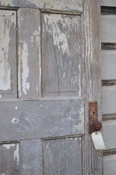 Weathered door at www.chartreuseandco.com