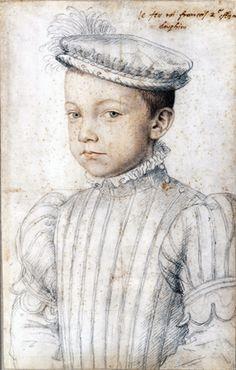FRANCOIS DE VALOIS (°1544) - eldest son of Henri II and Catherine de Medici. / by CLOUET
