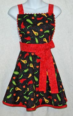 Chili Peppers apron for ladies.    Valued at $30.00