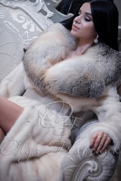 Palomino Scandinavian Mink Coat with Exclussive English Collar of Fawn Light Fox - Style 100-9 ($2000) from Olga Franchuk.