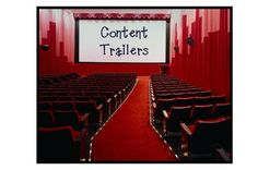 "FANTABULOUS!!! Content Trailers-  Hook your students with these! Amazing collection of ""Content Trailers"" for a variety of grades and subjects. Specials will love these too!  Content Trailers are "" short, 2- to 3-minute, media-rich experiences from which a point of inquiry can begin."