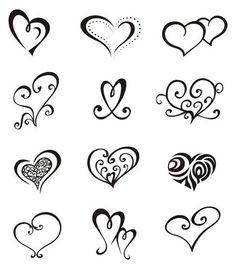 different heart outlines