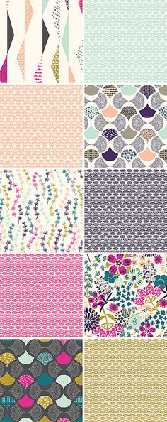 Koi collection by Rashida Coleman-Hale via decor8  Available July 2013!