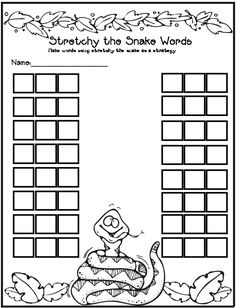 CVC words Stretchy the Snake