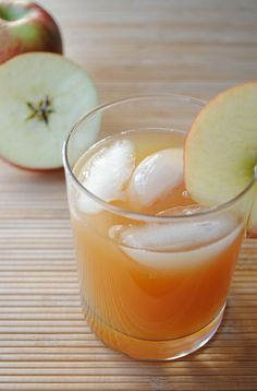 Ginger Cider Bourbon - 2 parts apple cider, 2 parts ginger ale, 1 part bourbon