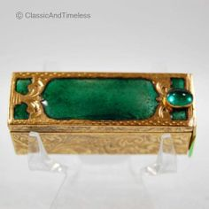 VINTAGE ITALIAN ENAMEL JEWELED ENAMELED LIPSTICK CASE HOLDER