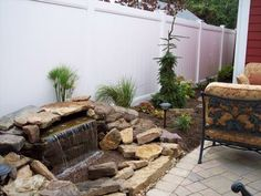 Pondless water feature. Eco friendly as it uses less water.