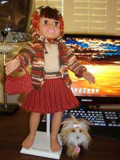 Ladyfingers - AG doll - Bulky Knit Jacket with Hood