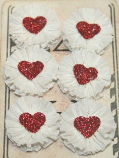 White Valentines Crepe Paper Rosettes by luckygirlgoods