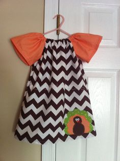 Turkey Chevron Peasant Dress by FrickAndFracks on Etsy, $26.00