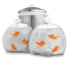 Goldfish Trash Bags