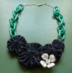 i am dorktastically excited about this necklace i made! ---> valley girl yoyo necklace by cookoorikoo on Etsy