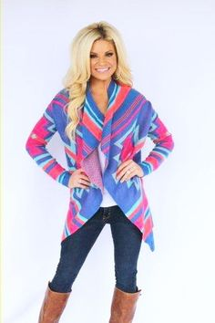 Karlie Multi Color Bright Cardigan