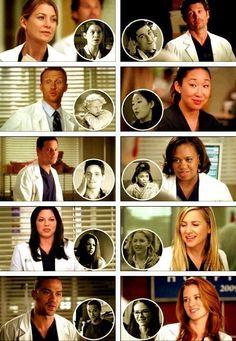 Grey's Anatomy.. The present vs. the past
