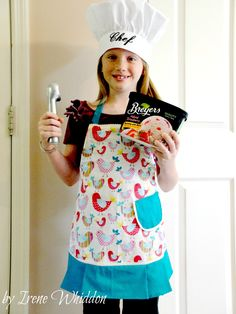 Children's Apron, Child's Apron, Apron, Girl's Apron, Bird Apron. $18.95, via Etsy.