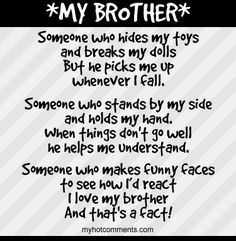 I Love My Brother Quotes | Love My Brother picture