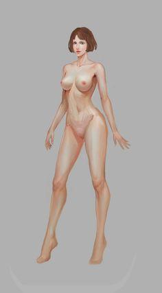 Female figure art repinned by Magnetron @ pinterest.com/magnetron21071