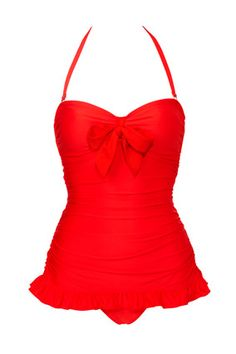 How to wear retro swimsuit...For pear shaped