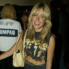 sienna miller, old school, blond, lock, style icons, t shirts, hair, bags, bang