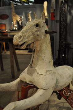 Napoleon III French painted horse tricycle toy c.1900