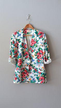floral jacket / floral print blazer /