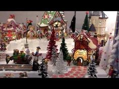 ▶ Department 56 North Pole Kathy's 2012 - YouTube LOVE THIS! I love the creativity. Love that she posted it to youtube!~ Enjoyed and LOVED IT