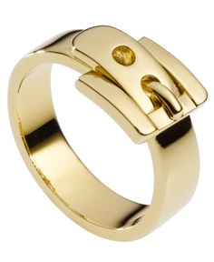 Michael Kors Ring, Gold Tone Buckle Ring - Fashion Jewelry - Jewelry & Watches - Macy's