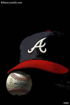 Limited edition Braves hat & ball piece of fine art by 83Bates.