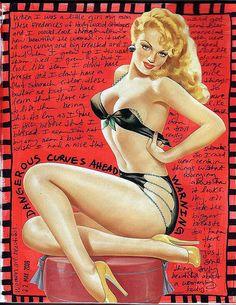 Art Journal - Love the pinup girl!