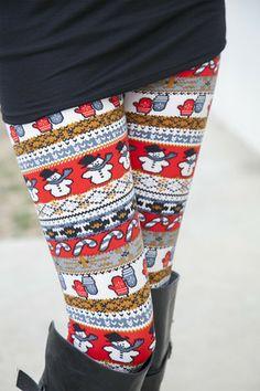 Holiday Snowman Leggings